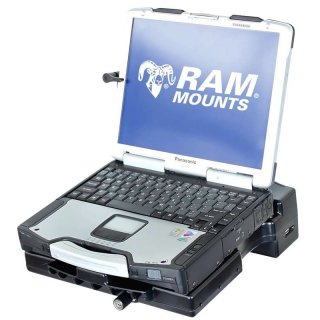RAM Mounts Tough-Tray Halteschale (Kunststoff) mit Stromanschluss für Panasonic Toughbook CF-28/-29/-30/-31 - AMPS-Aufnahme