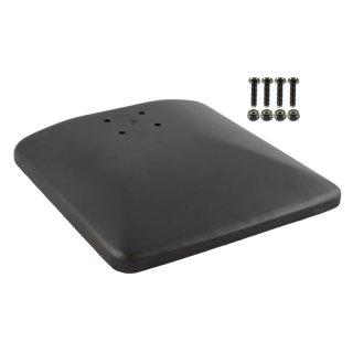 RAM Mounts Standfuss mit Aufnahme für runde Basisplatte - 228 x 228 mm, Schrauben-Set, Zink veredelt