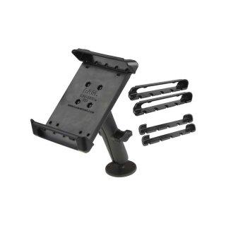 RAM Mounts Universal Aufbauhalterung für 7 Zoll Tablets - mit runder Basisplatte (AMPS), B-Kugel (1 Zoll), im Polybeutel