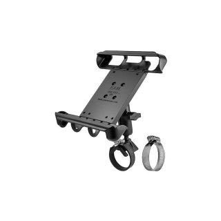RAM Mounts Universal Tablet-Rohrhalterung für 10 Zoll Tablets - mit Rohrschelle, B-Kugel (1 Zoll), im Polybeutel