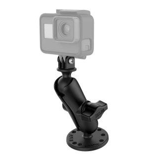 RAM Mounts GoPro Aufbau-Kamerahalterung - mit runder Basisplatte (AMPS), B-Kugel (1 Zoll), im Polybeutel