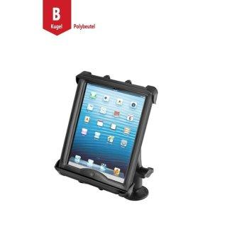 RAM Mounts Universal Tablet Aufbau-Halterung für 10 Zoll Tablets - mit runder Basisplatte (AMPS), B-Kugel (1 Zoll), im Polybeutel