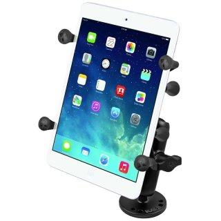 RAM Mounts Aufbau-Set mit X-Grip Universal Halteklammer für 7 Zoll Tablets - runde Basisplatte (AMPS), mittlerer Verbindungsarm, B-Kugel (1 Zoll), im Polybeutel