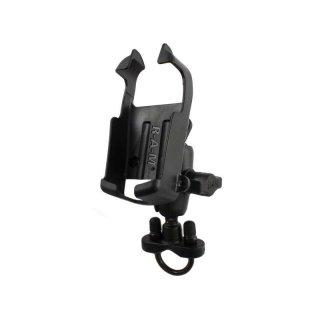 RAM Mounts Lenker-Halterung für Garmin eTrex s/w Geräte - mit Rohrschelle, B-Kugel (1 Zoll), im Polybeutel