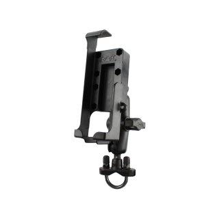 RAM Mounts Rohr-Kompletthalterung für Garmin 45/48/89/90 - mit Rohrschelle, B-Kugel (1 Zoll)