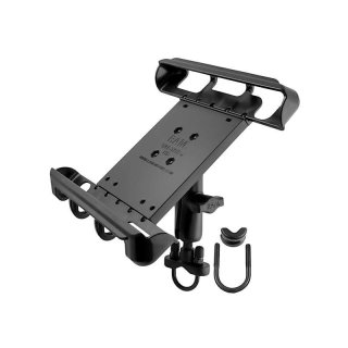RAM Mounts Universal Lenkerhalterung für 10 Zoll Tablets - mit Rohrschelle, B-Kugel (1 Zoll), im Polybeutel
