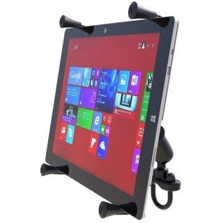 RAM Mounts Lenkerhalterung mit X-Grip Universal Halteklammer für 12 Zoll Tablets - Klemmschelle, mittlerer Verbindungsarm, B-Kugel (1 Zoll), im Polybeutel