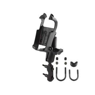 RAM Mounts Motorrad-Kompletthalterung für Garmin eTrex (schwarz/weiß Geräte) - mit Basisbefestigung (Lenker/Bremse/Kupplung), B-Kugel (1 Zoll)