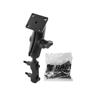 RAM Mounts Motorradhalterung für TomTom Rider - mit Basisbefestigung (Lenker/Bremse/Kupplung), B-Kugel (1 Zoll), Schrauben-Set, im Polybeutel