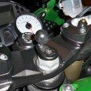 RAM Mounts Motorrad-Set - B-Kugel (1 Zoll), Lenkerkopf-Adapter, mittlerer Verbindungsarm, Diamond-Basisplatte (Trapez)