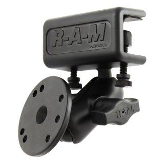RAM Mounts Panel-Set - Panel-Klammer, kurzer Verbindungsarm, runde Basisplatte (AMPS), B-Kugel (1 Zoll), im Polybeutel