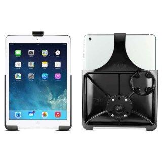 RAM Mounts Gerätehalteschale für Apple iPad Air/Air 2/Pro 9.7 (ohne Schutzhüllen/-gehäuse) mit runder Basisplatte - AMPS, B-Kugel (1 Zoll), im Polybeutel