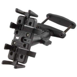 RAM Mounts Universal Schraubklemmen-Halterung - B-Kugel (1 Zoll), Schraubklemme, mittlerer Verbindungsarm, Universal-Halteschale