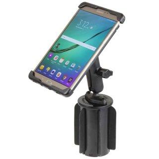 RAM Mounts Fahrzeug-Halterung Samsung Galaxy Tab S2 (8 Zoll) - mit Getränkehalter-Adapter, B-Kugel (1 Zoll), im Polybeutel