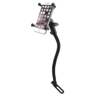 RAM Mounts Fahrzeughalterung mit X-Grip Universal Halteklammer für große Smartphones (Phablets) - Pod-Basis für Fahrzeugsitz, B-Kugel (1 Zoll)