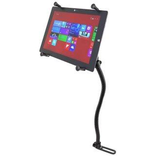 RAM Mounts Fahrzeughalterung mit X-Grip Universal Halteklammer für 12 Zoll Tablets - Pod-Basis (für Fahrzeugsitz), B-Kugel (1 Zoll), im Polybeutel