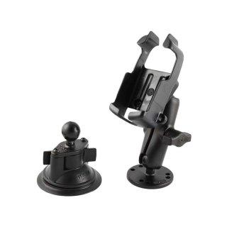 RAM Mounts Set Aufbau-/Saugfusshalterung für Garmin eTrex Color Geräte - B-Kugel (1 Zoll)
