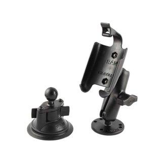 RAM Mounts Set Aufbau-/Saugfusshalterung für Garmin Oregon Geräte - B-Kugel (1 Zoll)