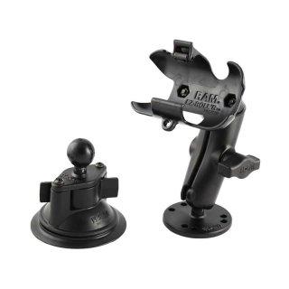 RAM Mounts Set Aufbau-/Saugfusshalterung für Garmin Dakota Geräte - B-Kugel (1 Zoll)