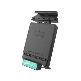 RAM Mounts Universal Tab-Tite Halteschale (abschließbar) mit GDS-Ladesockel - für Samsung Galaxy Tab 10.5 in IntelliSkin-Lade-/Schutzhülle, inkl. Stromanbindung, im Polybeutel
