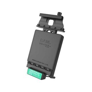 RAM Mounts Universal Tab-Tite Halteschale (abschließbar) mit GDS-Ladesockel - für Samsung Galaxy Tab 4 (8.0) in IntelliSkin-Lade-/Schutzhülle, inkl. Stromanbindung, im Polybeutel