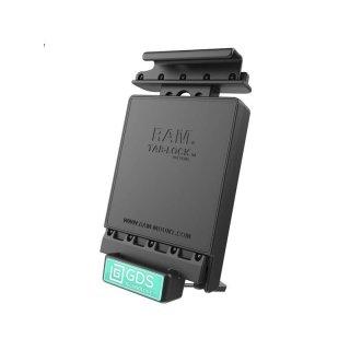 RAM Mounts Universal Tab-Tite Halteschale (abschließbar) mit GDS-Ladesockel - für Samsung Galaxy Tab 4 (10.1) in IntelliSkin-Lade-/Schutzhülle, inkl. Stromanbindung, im Polybeutel