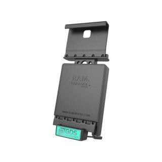 RAM Mounts Universal Tab-Tite Halteschale (abschließbar) mit GDS-Ladesockel - für Samsung Galaxy Tab A (9.7) in IntelliSkin-Lade-/Schutzhülle, inkl. Stromanbindung, im Polybeutel