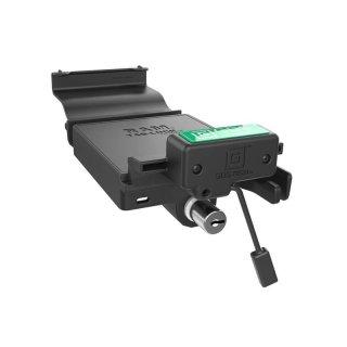 RAM Mounts GDS Dockingstation Samsung Galaxy Tab E (9.6) in IntelliSkin-Lade-/Schutzhüllen - abschließbar, Stromanbindung , AMPS-Aufnahme