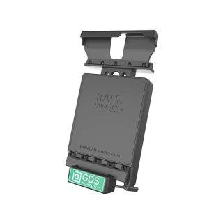 RAM Mounts Universal Tab-Tite Halteschale (abschließbar) mit GDS-Ladesockel - für Samsung Galaxy Tab 8.4 in IntelliSkin-Lade-/Schutzhülle, inkl. Stromanbindung, im Polybeutel