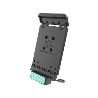 RAM Mounts Universal Tab-Tite Halteschale mit GDS-Ladesockel - für Samsung Tab 4 (7.0) in IntelliSkin-Lade-/Schutzhülle, inkl. Stromanbindung, im Polybeutel