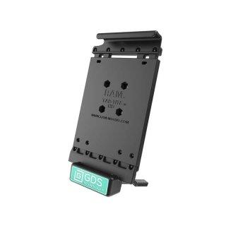RAM Mounts Universal Tab-Tite Halteschale mit GDS-Ladesockel - für Samsung Tab 4 (10.1) in IntelliSkin-Lade-/Schutzhülle, inkl. Stromanbindung, im Polybeutel