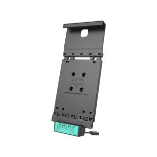 RAM Mounts Universal Tab-Tite Halteschale mit GDS-Ladesockel - für Samsung Tab A (9.7) in IntelliSkin-Lade-/Schutzhülle, inkl. Stromanbindung, im Polybeutel