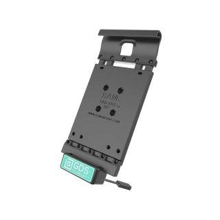 RAM Mounts Universal Tab-Tite Halteschale mit GDS-Ladesockel - für Samsung Tab A (8.0) in IntelliSkin-Lade-/Schutzhülle, inkl. Stromanbindung, im Polybeutel