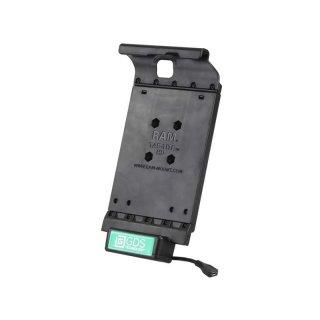 RAM Mounts Universal Tab-Tite Halteschale mit GDS-Ladesockel - für Samsung Tab S2 (8.0) in IntelliSkin-Lade-/Schutzhülle, inkl. Stromanbindung, im Polybeutel