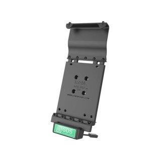 RAM Mounts Universal Tab-Tite Halteschale mit GDS-Ladesockel - für Samsung Tab E (9.6) in IntelliSkin-Lade-/Schutzhülle, inkl. Stromanbindung, im Polybeutel
