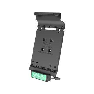 RAM Mounts Universal Tab-Tite Halteschale mit GDS-Ladesockel - für Samsung Tab E (8.0) in IntelliSkin-Lade-/Schutzhülle, inkl. Stromanbindung, im Polybeutel