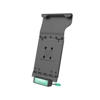 RAM Mounts Universal Tab-Tite Halteschale mit GDS-Ladesockel - für Samsung Tab A (10.1) in IntelliSkin-Lade-/Schutzhülle, inkl. Stromanbindung, im Polybeutel