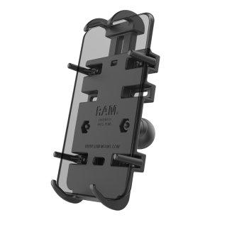 RAM Mounts Universal Halteschale (Verbundstoff) für elektronische Kleingeräte - mit Diamond-Basisplatte (Trapez), B-Kugel (1 Zoll), Schrauben-Set, im Polybeutel
