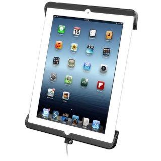 RAM Mounts Universal Tab-Tite Halteschale für Apple iPad 4 mit Lightning-Connector (ohne Schutzgehäuse/-hüllen) - AMPS-Aufnahme, Schrauben-Set, im Polybeutel