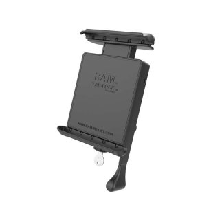 RAM Mounts Universal Tab-Lock Halteschale (abschließbar) für 7 Zoll Tablets inkl. Amazon Kindle Fire, Apple iPad mini u. Google Nexus 7 (ohne Schutzgehäuse/-hüllen) - AMPS-Aufnahme, Schrauben-Set, im Polybeutel