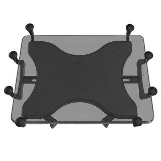 RAM Mounts X-Grip Universal Halteklammer für 12 Zoll Tablets - Aufnahme runde Basisplatte (B- oder C-Kugel), im Polybeutel