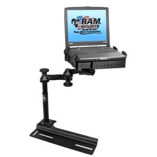 RAM Mounts Laptop-Halterung für Fahrzeuge - Fahrzeug-Basis, Doppel-Schwenkarm, Tough-Tray Halteschale, Chevrolet Camaro/Kodiak, Ford Crown Victoria, GMC Topkick