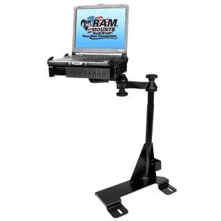 RAM Mounts Laptop-Halterung für Fahrzeuge - Fahrzeug-Basis, Doppel-Schwenkarm, Tough-Tray Halteschale, Ford Econoline Van
