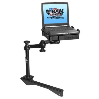 RAM Mounts Laptop-Halterung für Fahrzeuge - Fahrzeug-Basis, Doppel-Schwenkarm, Tough-Tray Halteschale, Chrysler Aspen, Dodge Durango