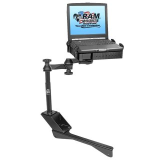 RAM Mounts Laptop-Halterung für Fahrzeuge - Fahrzeug-Basis, Doppel-Schwenkarm, Tough-Tray Halteschale, Chrysler 300, Dodge Charger/Magnum