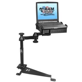 RAM Mounts Laptop-Halterung für Fahrzeuge - Fahrzeug-Basis, Doppel-Schwenkarm, Tough-Tray Halteschale, Ford Edge/Fiesta/Fusion
