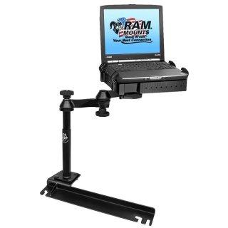RAM Mounts Laptop-Halterung für Fahrzeuge - Fahrzeug-Basis, Doppel-Schwenkarm, Tough-Tray Halteschale, Ford Transit, Dodge Grand Caravan