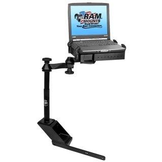 RAM Mounts Laptop-Halterung für Fahrzeuge - Fahrzeug-Basis, Doppel-Schwenkarm, Tough-Tray Halteschale, Dodge RAM 1500-5500