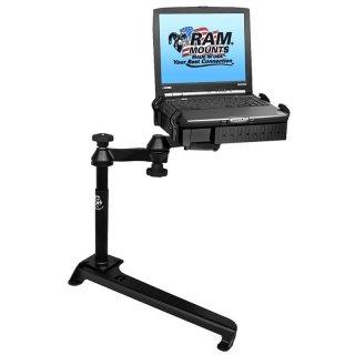 RAM Mounts Laptop-Halterung für Fahrzeuge - Fahrzeug-Basis, Doppel-Schwenkarm, Tough-Tray Halteschale, Toyota Prius C/Yaris