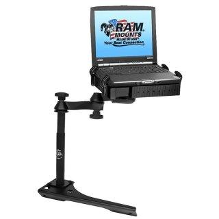 RAM Mounts Laptop-Halterung für Fahrzeuge - Fahrzeug-Basis, Doppel-Schwenkarm, Tough-Tray Halteschale, Dodge Citadel/Durango, Jeep Grand Cherokee